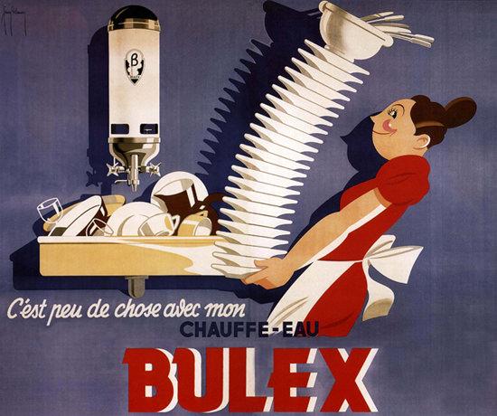 Bulex Chauffe-Eau Belgium Boiler Water Heater   Vintage Ad and Cover Art 1891-1970