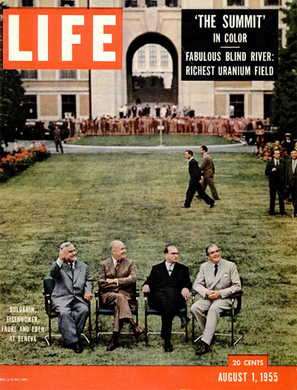 Bulganin Eisenhower Faure Eden 1 Aug 1955 Copyright Life Magazine | Life Magazine Color Photo Covers 1937-1970