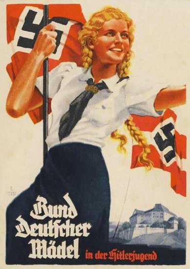 Bund Deutscher Maedel In Der Hitler Jugend 2 | Vintage War Propaganda Posters 1891-1970