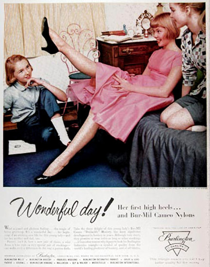 Bur-Mil Cameo Nylon Stockings Teenagers Day | Vintage Ad and Cover Art 1891-1970
