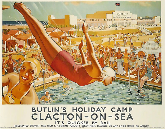 Butlins Holiday Camp Clacton On Sea | Sex Appeal Vintage Ads and Covers 1891-1970