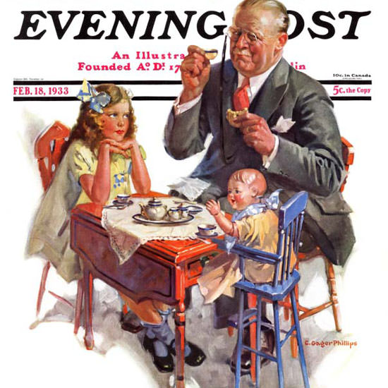 C Gager Phillips Saturday Evening Post Tea 1933_02_18 Copyright crop | Best of 1930s Ad and Cover Art