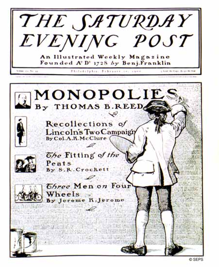 C Hay Saturday Evening Post Cover Monopolies 1900_02_10 | The Saturday Evening Post Graphic Art Covers 1892-1930