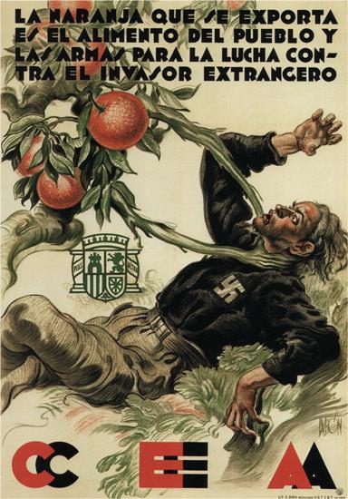 CEA La Naranja Y El Invasor Spain Espana | Vintage War Propaganda Posters 1891-1970