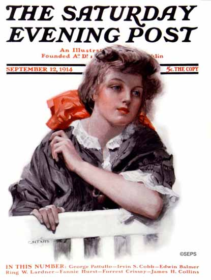 CH Taffs Saturday Evening Post Cover 1914_09_12 | The Saturday Evening Post Graphic Art Covers 1892-1930