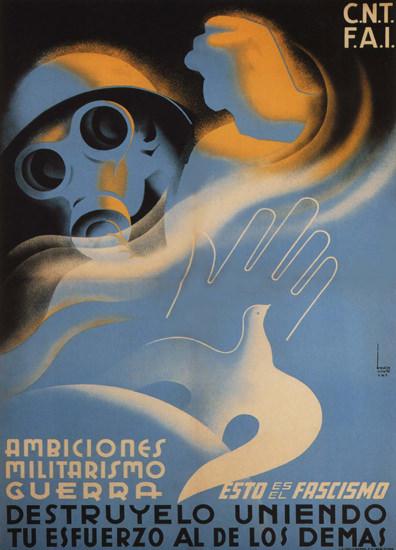 CNT FAI Destruyelo Uniendo Militarismo Guerra | Vintage War Propaganda Posters 1891-1970