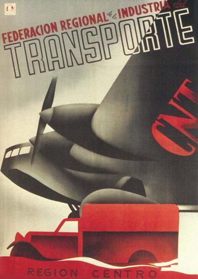 CNT Federation Transporte Spain Espana Air | Vintage Ad and Cover Art 1891-1970