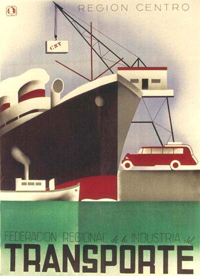 CNT Federation Transporte Spain Espana Sea | Vintage Ad and Cover Art 1891-1970