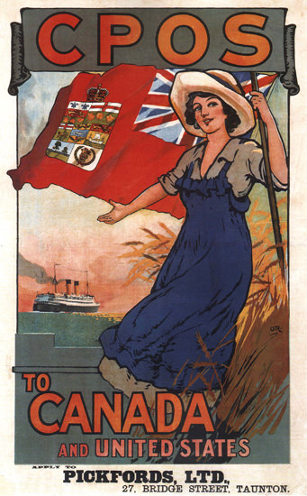CPOS Pickfords Ltd Cruises To Canada And USA | Vintage Travel Posters 1891-1970