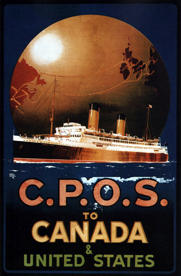 CPOS To Canada United States 1920 | Vintage Travel Posters 1891-1970