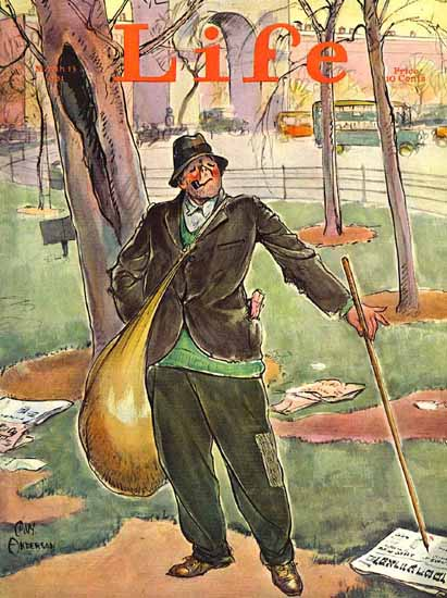 CW Anderson Life Humor Magazine 1931-03-13 Copyright   Life Magazine Graphic Art Covers 1891-1936