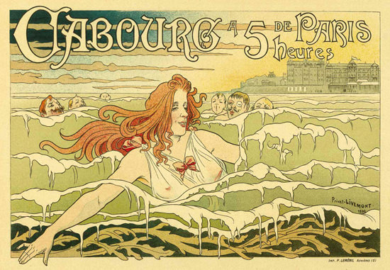 Cabourg Swimming Girl Sea Paris 1896 | Sex Appeal Vintage Ads and Covers 1891-1970