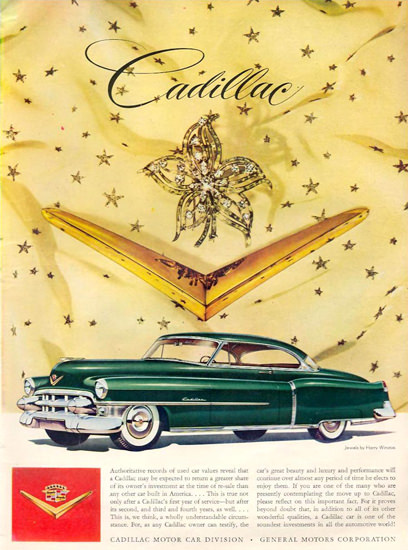 Cadillac And Jewels By Harry Winston 1953 | Vintage Cars 1891-1970