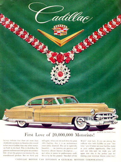 Cadillac And Jewels By Van Cleef Arpels 1953 | Vintage Cars 1891-1970