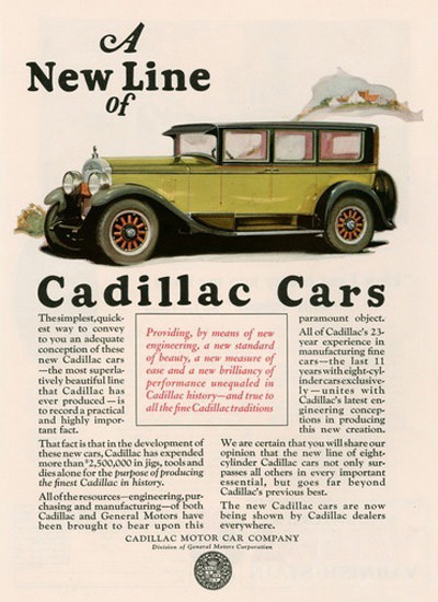 Cadillac Automobile A New Line | Vintage Cars 1891-1970