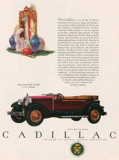 Cadillac Automobile Mirror | Vintage Cars 1891-1970