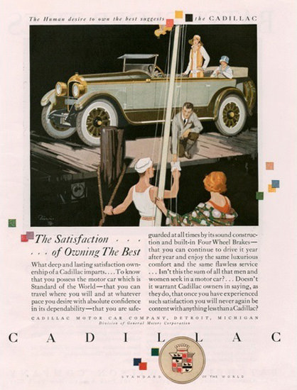 Cadillac Automobile Sailing Harbor | Vintage Cars 1891-1970