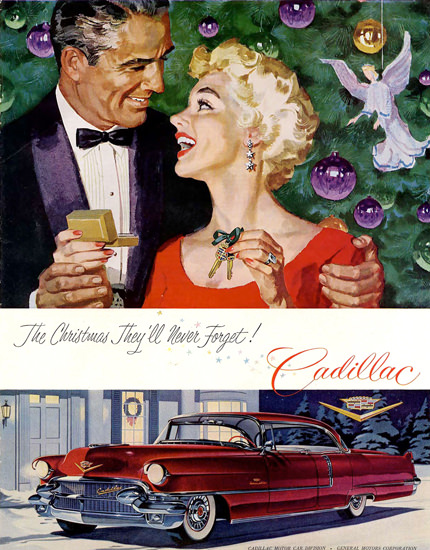 Cadillac Christmas Red | Sex Appeal Vintage Ads and Covers 1891-1970