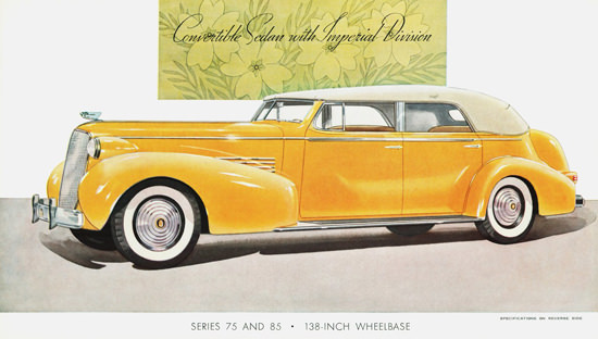 Cadillac Convertible Sedan Imperial Division 1937 | Vintage Cars 1891-1970
