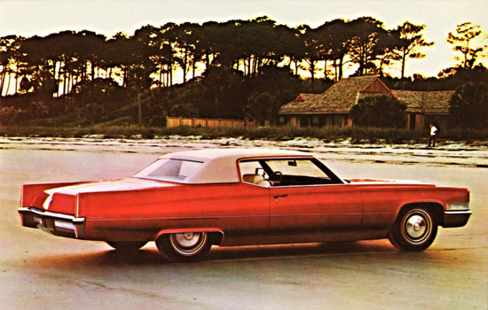 Cadillac Coupe DeVille 1970 On The Beach   Vintage Cars 1891-1970