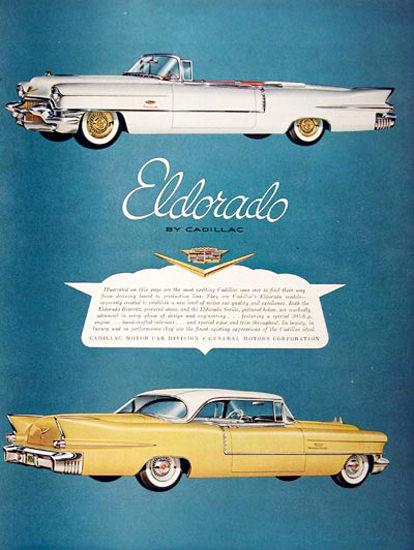 Cadillac Eldorado 1956 White Yellow | Vintage Cars 1891-1970