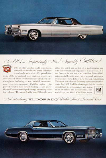 Cadillac Eldorado 1967 Worlds Finest Car | Vintage Cars 1891-1970