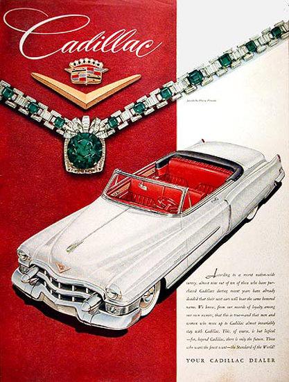 Cadillac Eldorado Convertible 1953 White Red | Vintage Cars 1891-1970