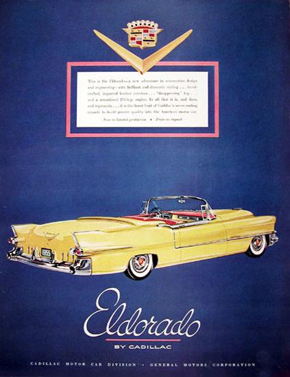 Cadillac Eldorado Convertible 1955 Yellow | Vintage Cars 1891-1970