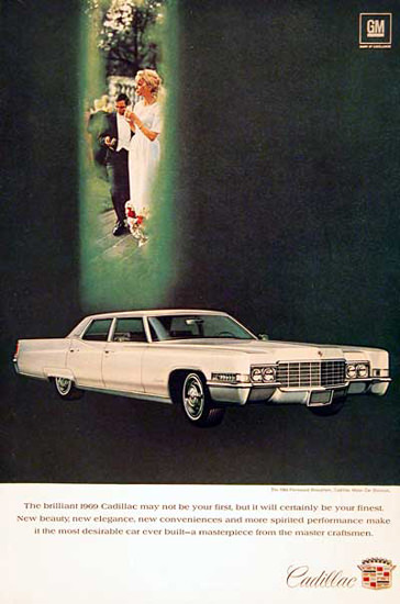Cadillac Fleetwood 1969 White Wedding | Vintage Cars 1891-1970