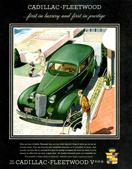 Cadillac Fleetwood Series 70 Touring 1937 Green | Vintage Cars 1891-1970