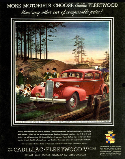 Cadillac Fleetwood Series 70 Touring 1937 Red | Vintage Cars 1891-1970