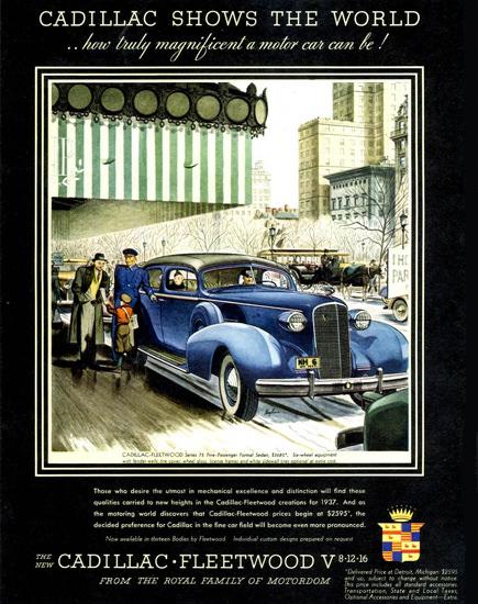 Cadillac Fleetwood Series 75 Formal Sedan 1937 | Vintage Cars 1891-1970