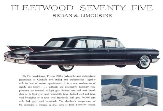 Cadillac Fleetwood Seventy-Five 1960 Black | Vintage Cars 1891-1970