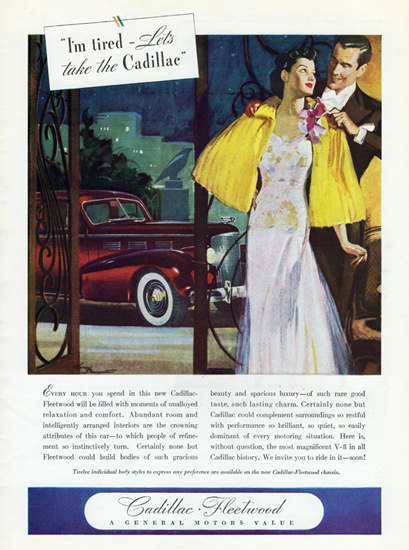 Cadillac Fleetwood Tired 1938 by Maryse Baumgartner | Vintage Cars 1891-1970