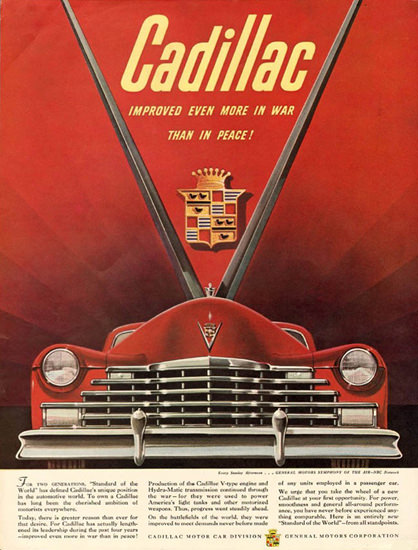 Cadillac For Two Generations 1946 | Vintage Cars 1891-1970