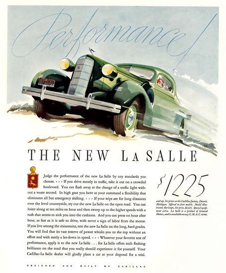 Cadillac La Salle Performance Green | Vintage Cars 1891-1970