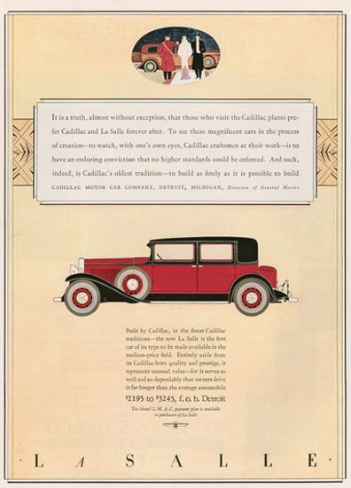 Cadillac La Salle V8 Red Without Exception | Vintage Cars 1891-1970