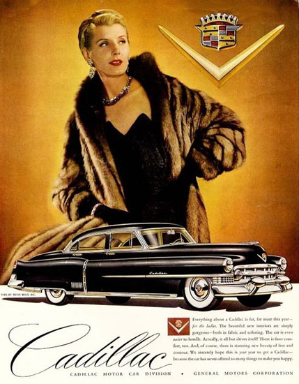 Cadillac Lady 1951 | Sex Appeal Vintage Ads and Covers 1891-1970