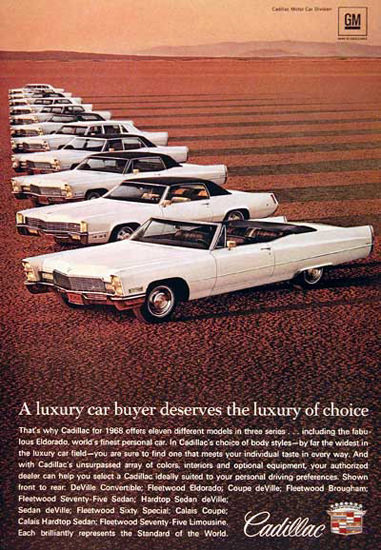 Cadillac Line 1968 The Luxery Of Choice | Vintage Cars 1891-1970