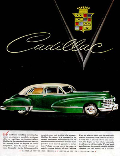 Cadillac Sedan 1947 Green | Vintage Cars 1891-1970