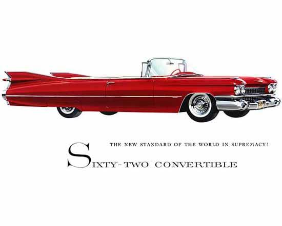 Cadillac Series 62 Convertible 1959 Ad | Vintage Cars 1891-1970