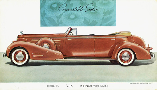 Cadillac Series 90 V16 Convertible Sedan 1937 | Vintage Cars 1891-1970