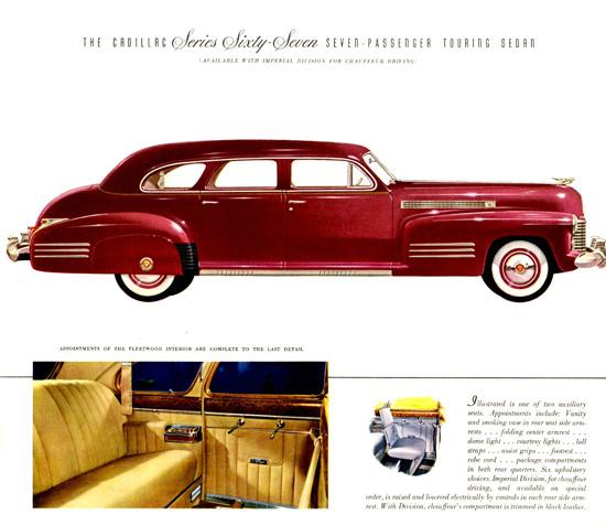Cadillac Series Sixty Seven Touring Sedan 1941   Vintage Cars 1891-1970