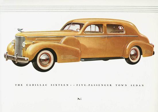 Cadillac Sixteen 5 Passenger Town Sedan 1938 | Vintage Cars 1891-1970