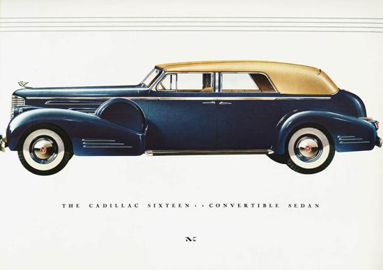 Cadillac Sixteen Convertible Sedan 1938 | Vintage Cars 1891-1970