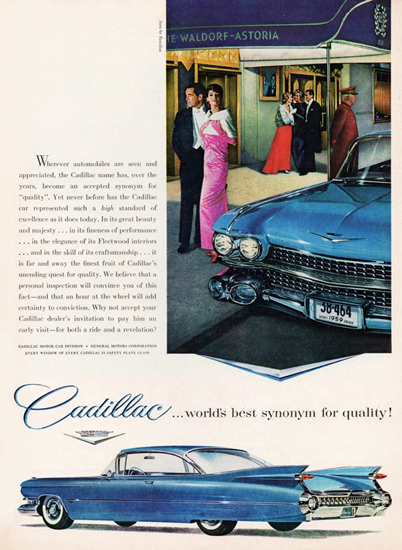 Cadillac Sixty Two Coupe 1959 Waldorf Astoria | Vintage Cars 1891-1970