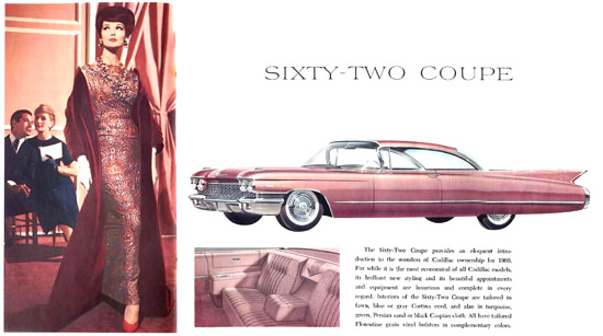 Cadillac Sixty-Two Coupe 1960 Pink | Sex Appeal Vintage Ads and Covers 1891-1970