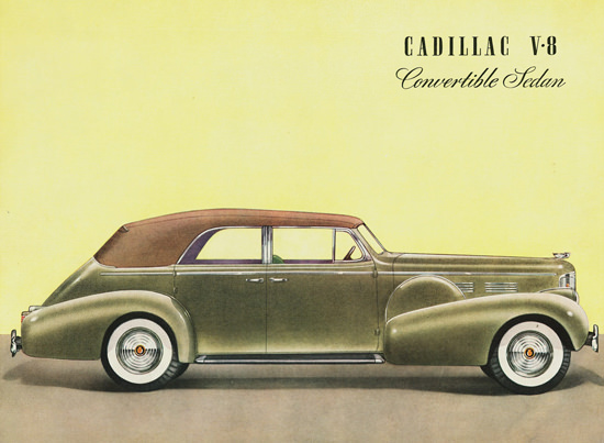 Cadillac V8 Convertible Sedan 1938 | Vintage Cars 1891-1970