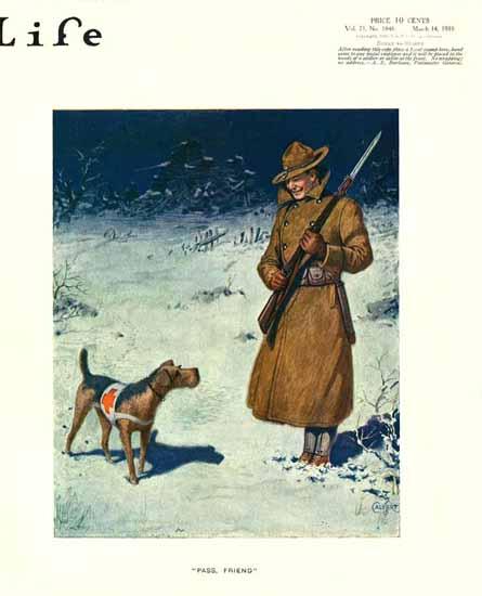 Calvert Life Humor Magazine 1918-03-14 Copyright | Life Magazine Graphic Art Covers 1891-1936