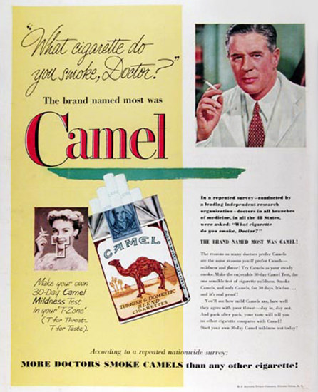 Camel 1951 Your Doctors Smoke Camels | Vintage Ad and Cover Art 1891-1970